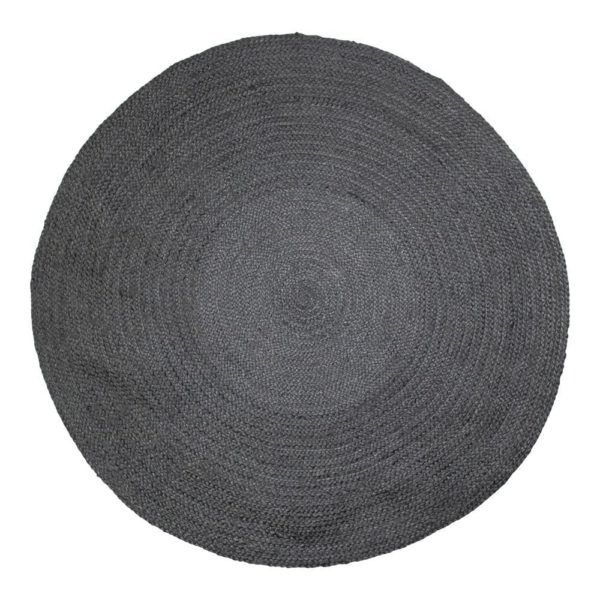 Jute   Black    Ø170x1cm Mars & More