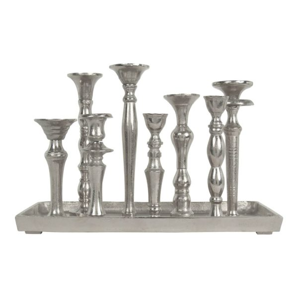 Candlestick   Colored   Aluminium 40x19x27cm Mars & More