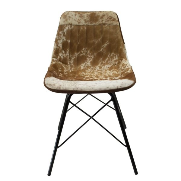 Chair Cow  Brown   Leather 50x53x79cm Mars & More