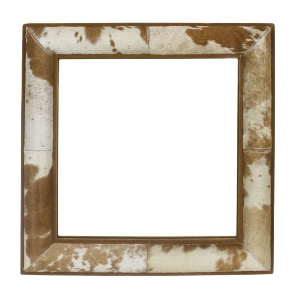 Mirror Cow  Brown  Square Glass 50x50x5cm Mars & More