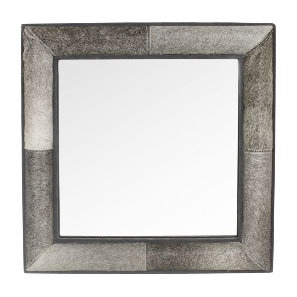 Mirror Cow  Gray  Square Glass 50x50x5cm Mars & More