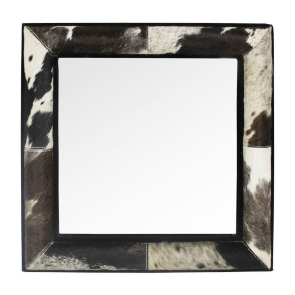 Mirror Cow  Black  Square Glass 50x50x5cm Mars & More