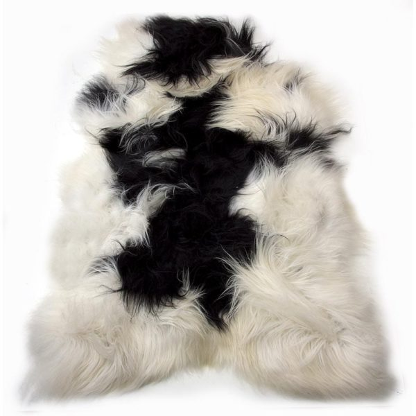 Fur Sheep Iceland Colored   Leather / fur 115x75x5cm Mars & More