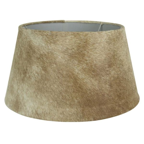 Lampshade Cow  Beige   Leather 40x30x22