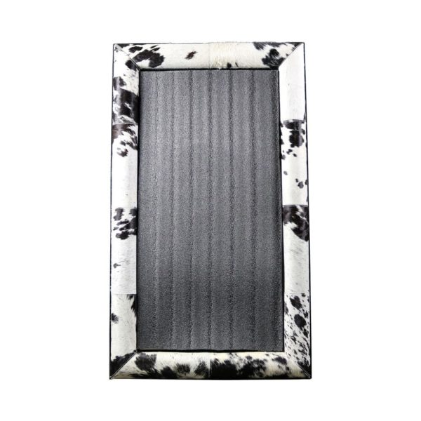 Mirror Cow  Black  Rectangle Leather  Mars & More